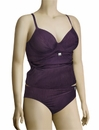 Fantasie St Kitts Underwire Plunge Tankini Top FS5793 - Loganberry