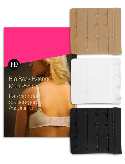 Fashion Essentials Bra Back Extenders - 4 Hooks FE50523 - 4 Hooks