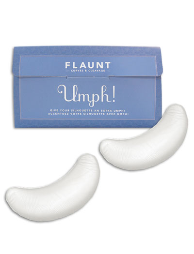 Fashion Essentials Flaunt Umph! Crescent Bra Inserts FE39055 - Clear