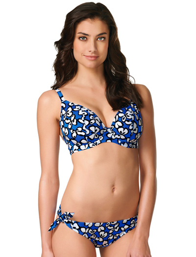 Freya Madame Butterfly Underwire Plunge Bikini Top AS3490/AS3492 - Cobalt