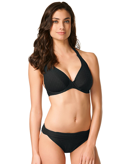 Freya Showboat Underwire Banded Halter Bikini Top AS3560 - Black