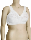 Glamorise MagicLift Cotton Full Figure Support Soft Cup Bra 1001 - White