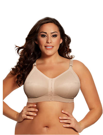Goddess Comfort Zone Soft Cup Front Close Bra 6150 - Nude