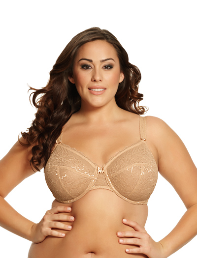 Goddess Rose Bandless Underwire Bra 6081 - Nude