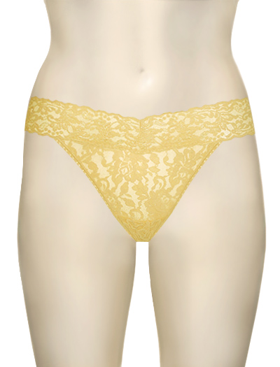 Hanky Panky Original Signature Lace Thong 4811 - Buttercup