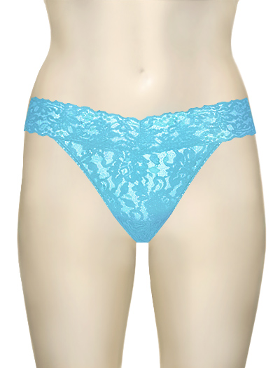 Hanky Panky Original Signature Lace Thong 4811 - True Blue