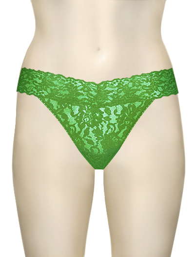 Hanky Panky Original Signature Lace Thong 4811 - Grass