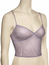 Honeydew At The Ballet Mesh Lace Cropped Camisole Bralette 20040 - Fog