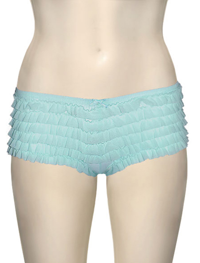 Honeydew Ruffle Rumba Boyshorts 007-2 - Light Blue