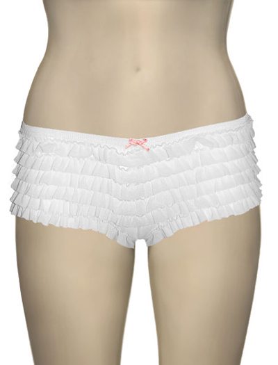 Honeydew Ruffle Rumba Boyshorts 007-2 - White