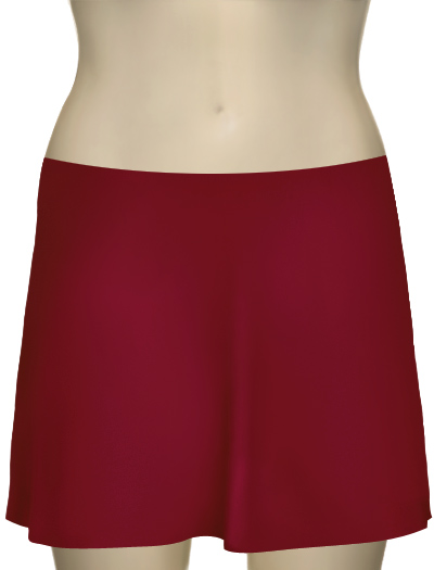 Karla Colletto Basic A-Line Skirt BA-C11 - Cranberry