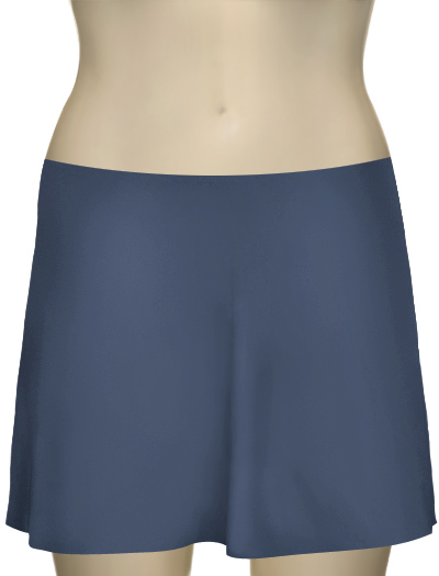 Karla Colletto Basic A-Line Skirt BA-C11 - Steel