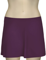 Karla Colletto Basic A-Line Skirt BA-C11 - Plum