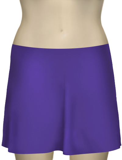 Karla Colletto Basic A-Line Skirt BA-C11 - Ultra Violet