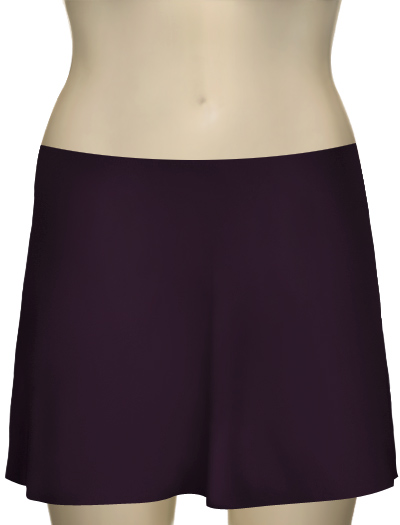 Karla Colletto Basic A-Line Skirt BA-C11 - Grape