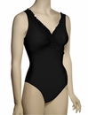 Karla Colletto Favorites Ruffle Twist Underwire Bathing Suit 99-D70 - Black