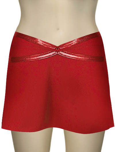 Karla Colletto Patent Twist Cover Up 112-C11 - Scarlet