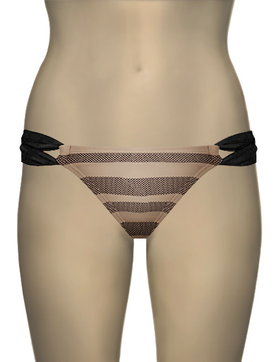 L-Space Au Natural Taboo Bikini Bottom AN2212 - Au Natural