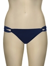 L-Space Sensual Solids Taboo Full Cut Bikini Bottom LS22F13 - Steel Blue