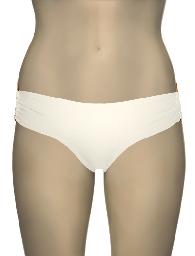 L-Space Sweet & Chic Diva D Ring Classic Cut Bikini Bottom SC26C13 - Cream