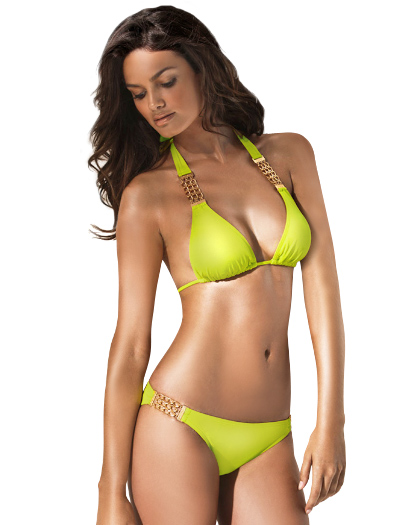 L-Space Vera Cruz Angel Halter Bikini Top LSM9312 - Limon