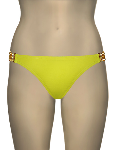 L-Space Vera Cruz Catwalk Full Cut Bikini Bottom LSM48F12 - Limon