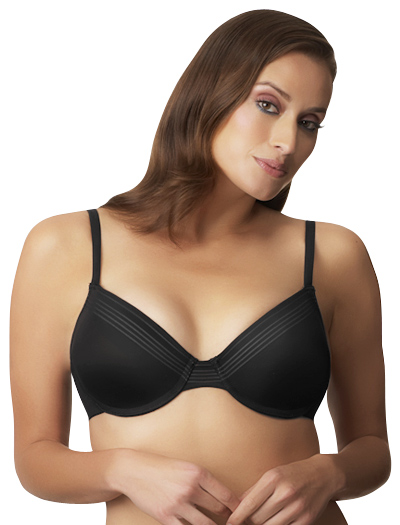 Le Mystere Manhattan Seamless Moulded Convertible Bra 9855 - Black