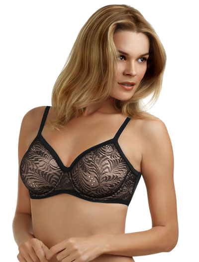 Le Mystere Whisper Seamless Moulded Underwire Bra 2210 - Black
