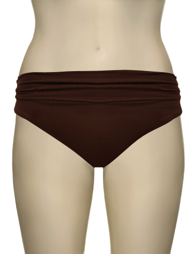 Lenny Basic New Touch Hi-Waist Ruched American Bikini Bottom 159 - Amber