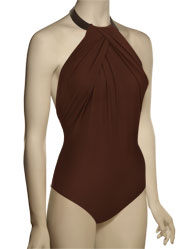 Lenny Basic New Touch Leather Necklace Maillot Swimsuit 223 - Amber