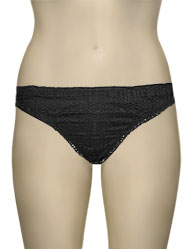 Lise Charmel Antigel La Beach Guipure High Leg Brief EBA0705 - Crochet Noir