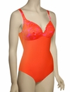 Lise Charmel Antigel La Miss Dentelle Halter Swimsuit FBA9206 - Orange