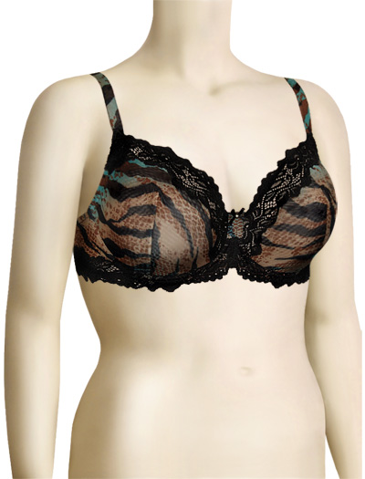 Lunaire Barbados Mesh Demi Bra 15211 - Multi Animal
