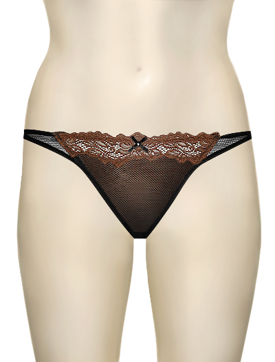 Lunaire Barbados Seduction Bikini Panty 15235 - Blk/Chocolate