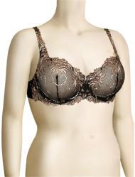 Lunaire Sevilla Embroidered Demi Bra 14011 - Black / Taupe