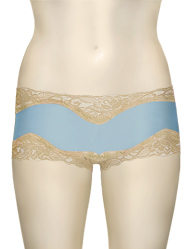 Mary Green Hip Hugger Boyshorts C32 - Blue / Ecru