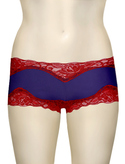 Mary Green Hip Hugger Boyshorts C32 - BlueIris / Red