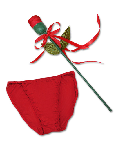 Mary Green Panty Rose Silk String Bikini SL21 - Red