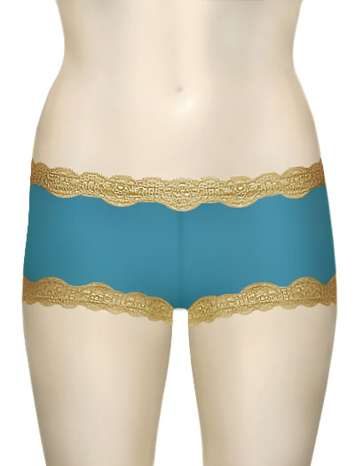 Mary Green Silk Gauze Hip Hugger Boyshort LT8 - Blue / Marzpn