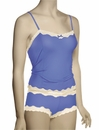 Mary Green Silk Knit With Lace Camisole LL5 - Fr Blu/Crystal