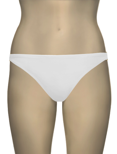 Miss Mandalay Boudoir Beach Bikini Brief BOU02WBB - Ice White