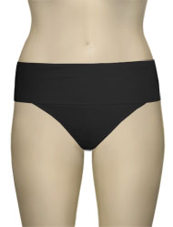 Miss Mandalay Boudoir Beach Fold Up Brief BOU05BFB - Black