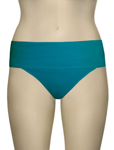 Miss Mandalay Boudoir Beach Fold Up Brief BOU05TFB - Turquoise