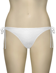 Miss Mandalay Coachella Tie Brief CC03WTS - White Knit