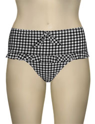 Miss Mandalay Gingham Girl Retro Brief GIN02BDB - Black/White