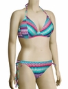 Miss Mandalay Gold Coast Underwire Halter Bikini Top GOL01TPHP - Mint Print