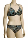 Miss Mandalay India Underwire Halter Bikini Top IND01BHP - Paisley Print