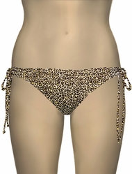 Miss Mandalay Leopard Ruffle Tieside Brief LEPR03YTS - Yellow Print