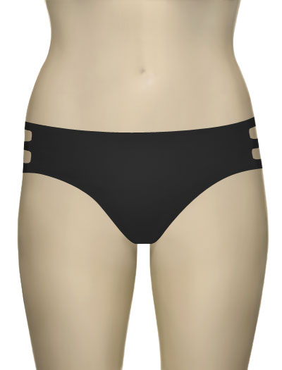 Miss Mandalay Los Angeles Deep Brief LOS02DDB - Black