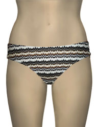 Miss Mandalay Twiga Bikini Brief TWO02BRBB - Brown Knit